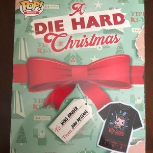 Funko Pop Die Hard Christmas with Shirt and figure